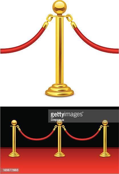ilustrações, clipart, desenhos animados e ícones de barreira de corda de veludo - obstruir
