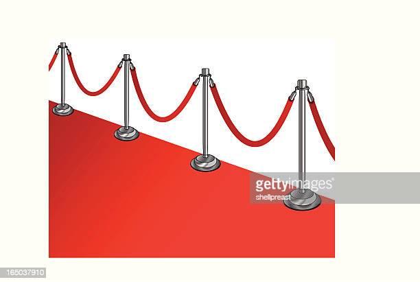 Cuerda de terciopelo de alfombra roja