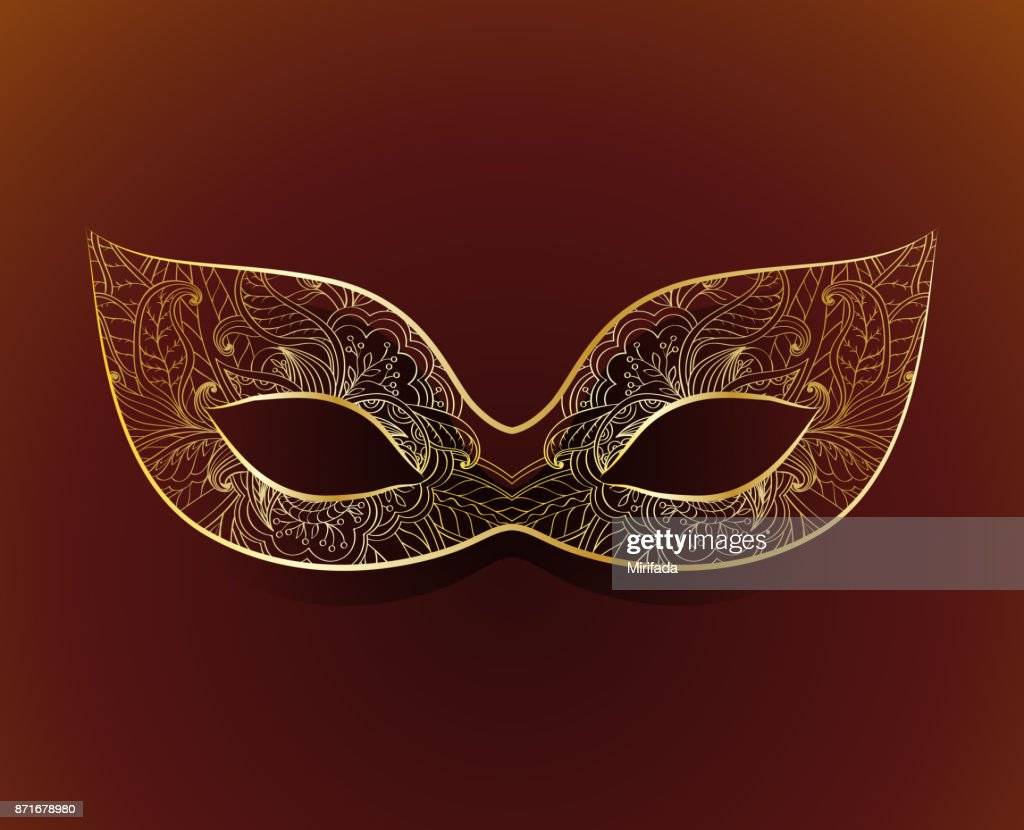 Venetian carnival mask with floral pattern