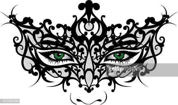 Woman In Masquerade Mask Stock Illustrations And Cartoons