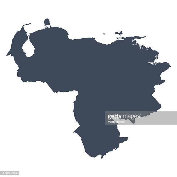 venezuela country map - venezuela stock illustrations