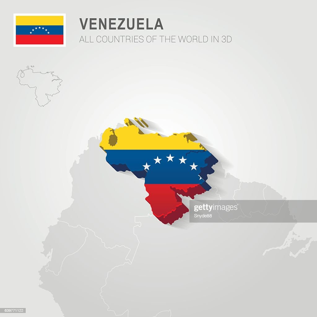 Venezuela drawn on gray map.