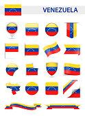 Venezuela Flag Vector Set
