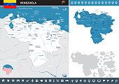 Venezuela - infographic map - Detailed Vector Illustration