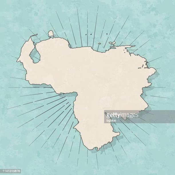 Venezuela map in retro vintage style - Old textured paper