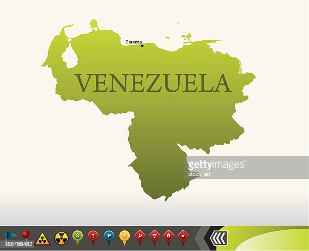 Venezuela map with navigation icons
