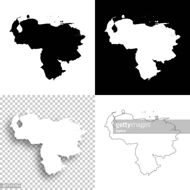 venezuela maps for design - blank, white and black backgrounds - venezuela stock illustrations