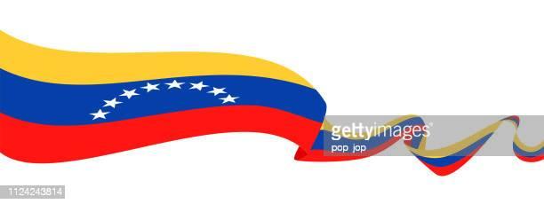 Venezuela - Ribbon Flag Vector Flat Icon