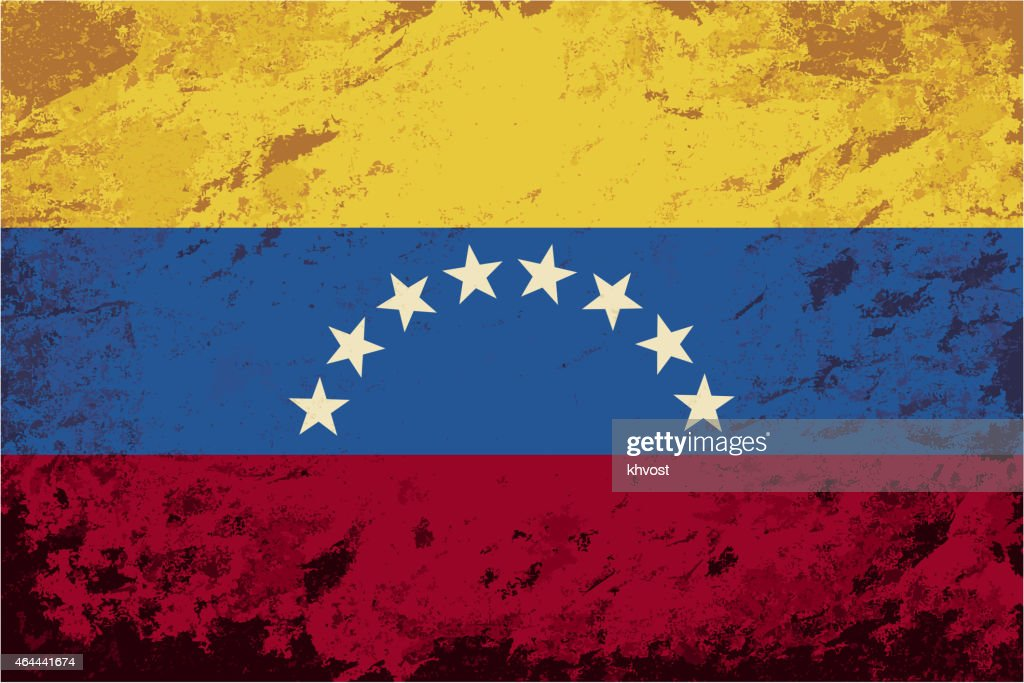 Venezuelan flag. Grunge background. Vector illustration