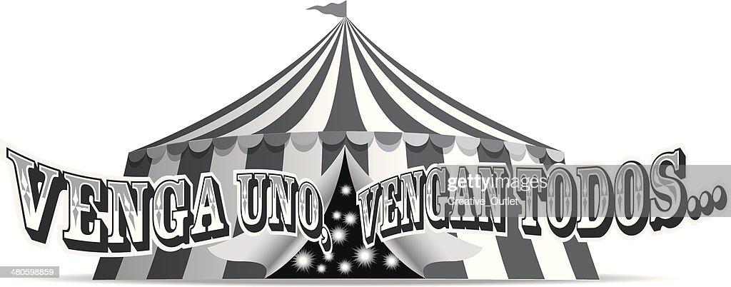 Venga Uno Heading : Vector Art