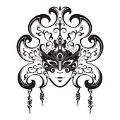 Free Female Carnival Mask Clipart and Vector Graphics