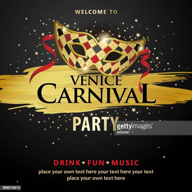 venice carnival party - fairground stock illustrations
