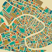 Venice colorful city plan