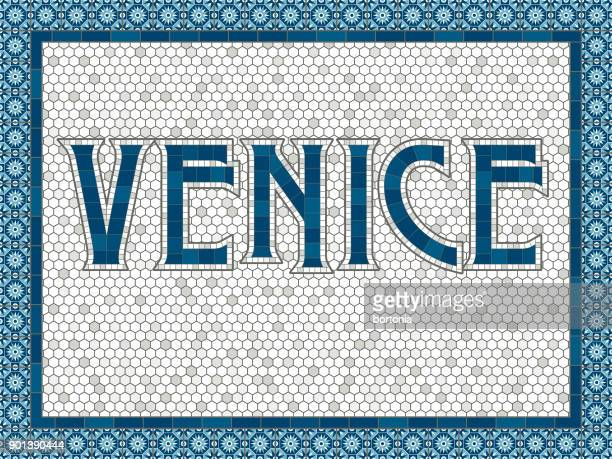 Venice Old Fashioned Mosaic Tile Typography