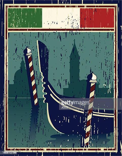 venice poster - venice italy stock illustrations, clip art, cartoons, & icons