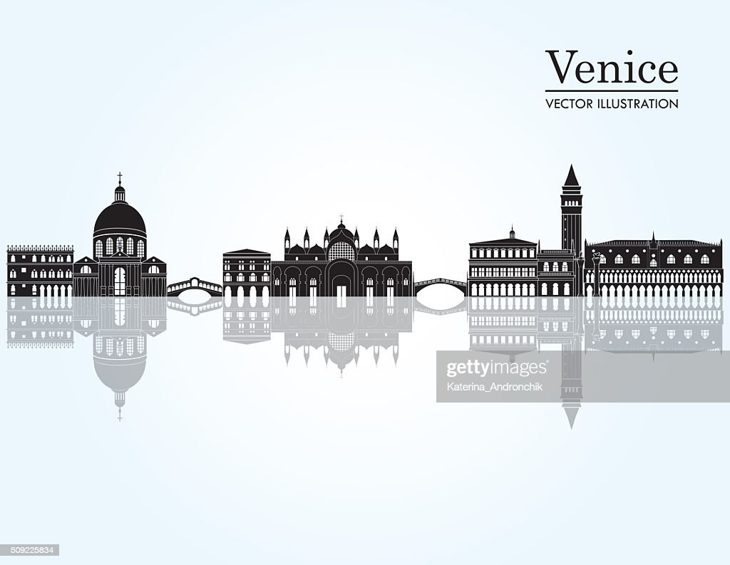 Venice skyline. Vector illustration