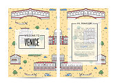 Venice traveling banners set in linear style