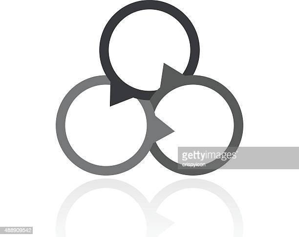 Venn Diagram icon on a white background.