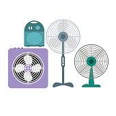 Ventilation Devices Set. Vector