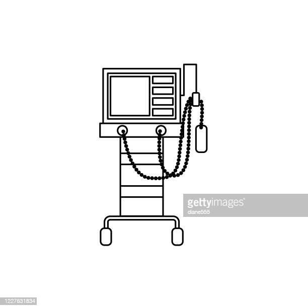 ventilator machine coronavirus icon - quarantine clip art stock illustrations