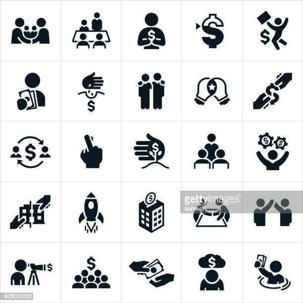 venture capital icons - small business stock illustrations