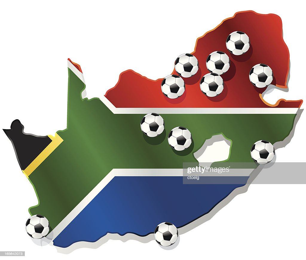 WM 2010 venues of FIFA WC South Africa : stock illustration
