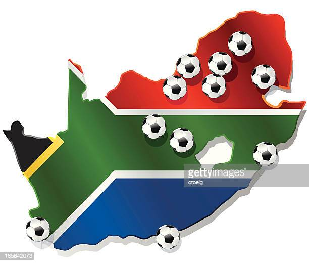 wm 2010 venues of fifa wc south africa - johannesburg stock illustrations, clip art, cartoons, & icons