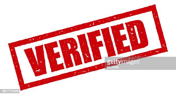 Verified Red Rubber Stamp Icon on Transparent Background