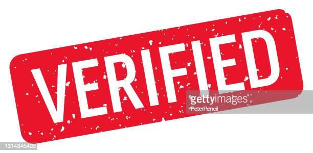 verified - stamp, imprint, seal template. vector stock illustration - verification stock illustrations