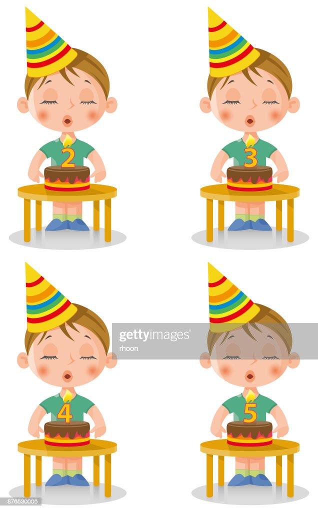 Verjaardag Kleine Jongen Vector Art Getty Images