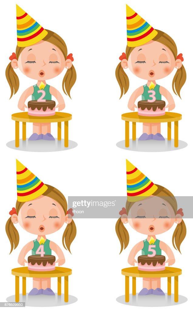 Verjaardag Meisje Vector Art Getty Images
