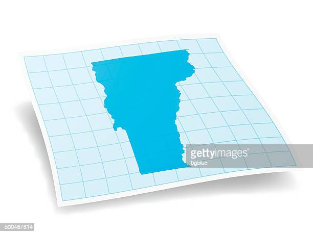 Vermont Map isolated on white Background