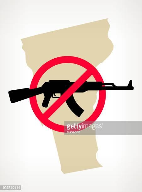 Vermont No arma violencia Vector Poster