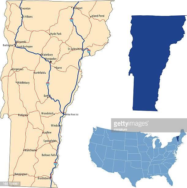 Vermont road map