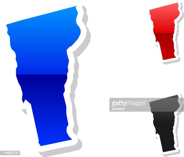 Vermont state button royalty free vector art in 3 colors