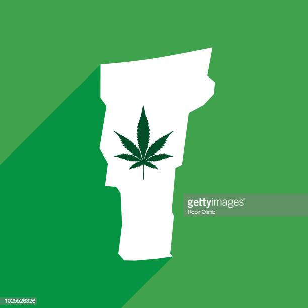 stockillustraties, clipart, cartoons en iconen met vermont staat marihuana kaart - montpelier vermont