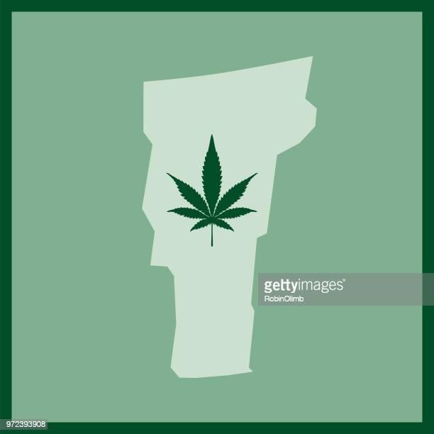 vermont state marijuana map - hashish stock illustrations, clip art, cartoons, & icons