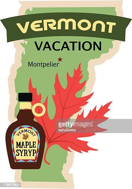 Vermont travel sticker or luggage label