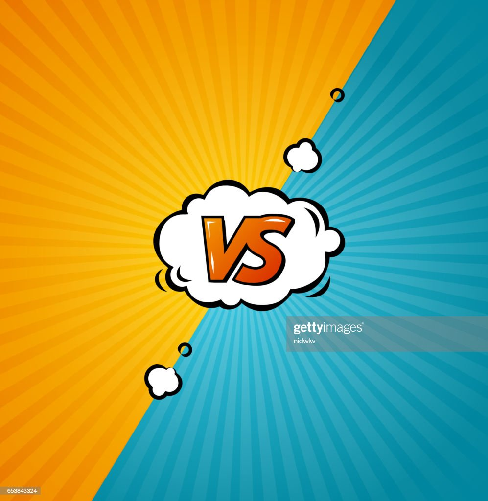 Versus Background. Vector