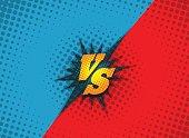 Versus fighting background concept