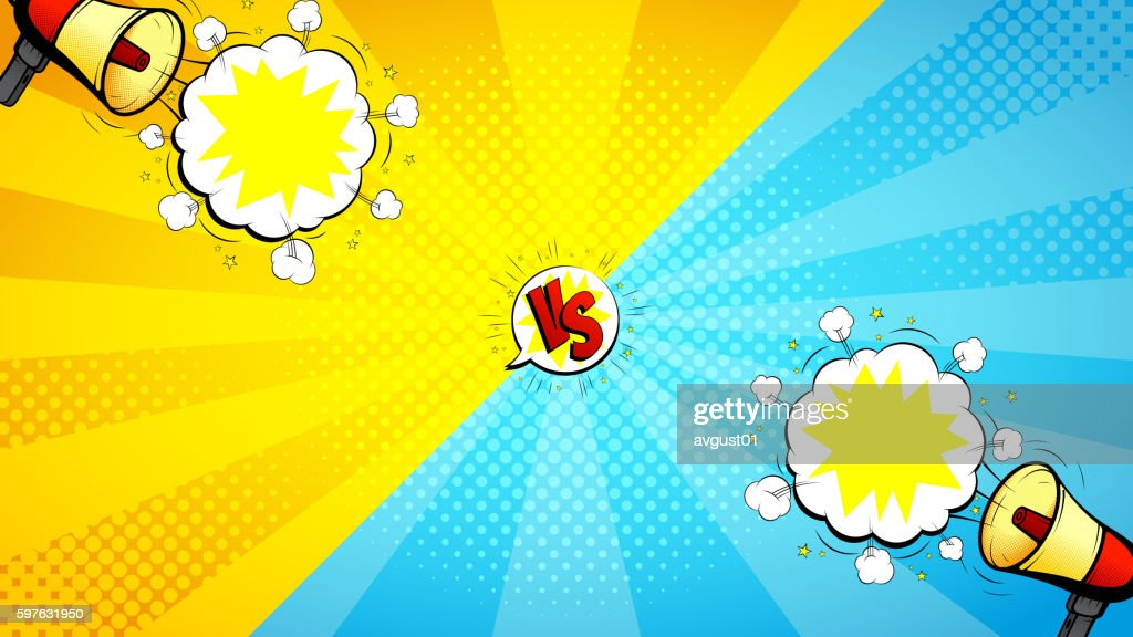 Versus letters fight illustration