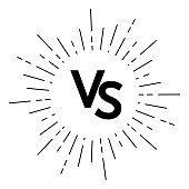 Versus logo vs letters for sports design, fight icon. Vector illustration