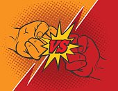 Versus rivalry fist background