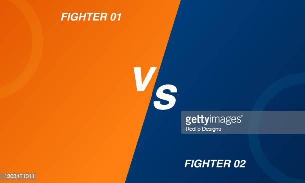 versus vs screen background stock illustration - mixed martial arts stock illustrations