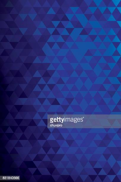 Vertical abstract triangles geometric background -Blue, Dark blue