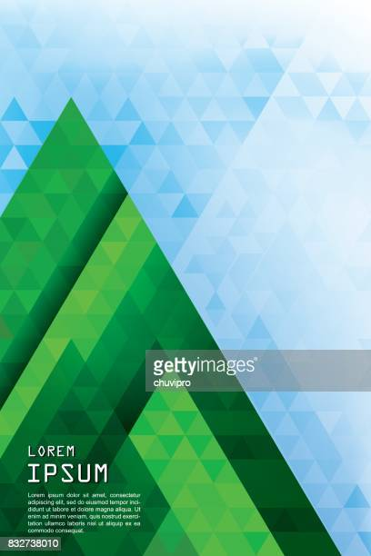 Vertical abstract triangles geometric background - Pine Forest