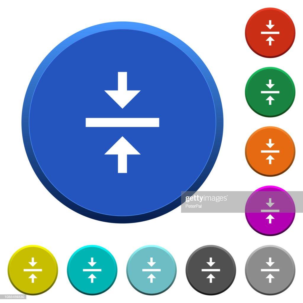Vertical align center beveled buttons