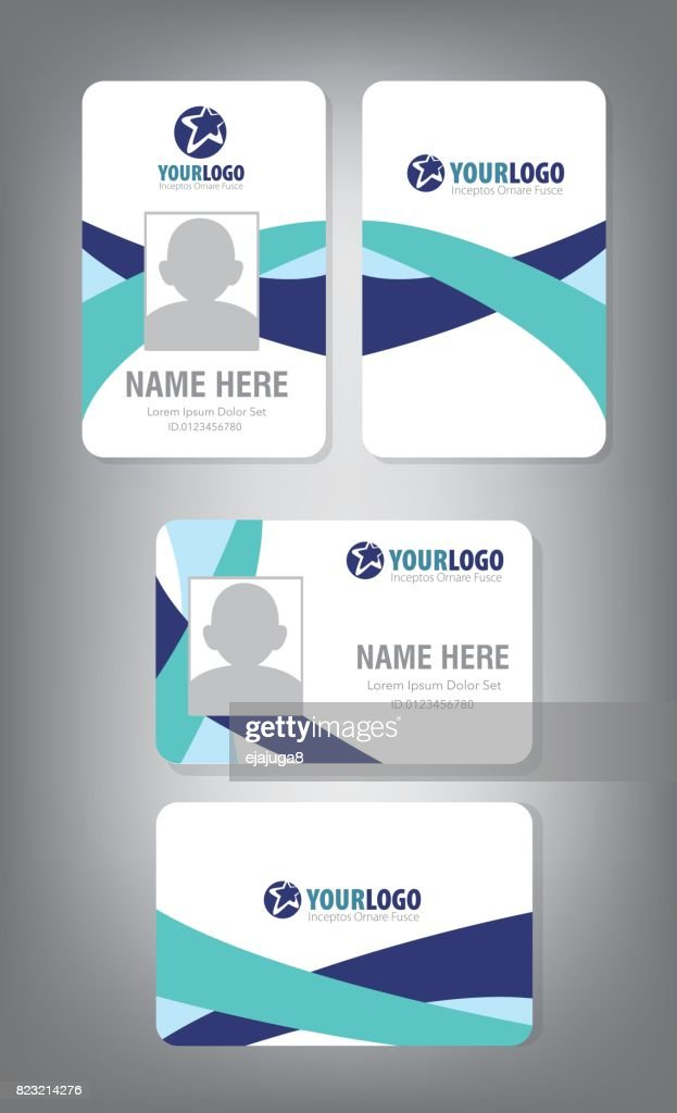 Vertical and Horizontal Identification id cards set Vector illustration
