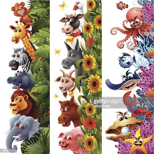 Banners verticais de Animal