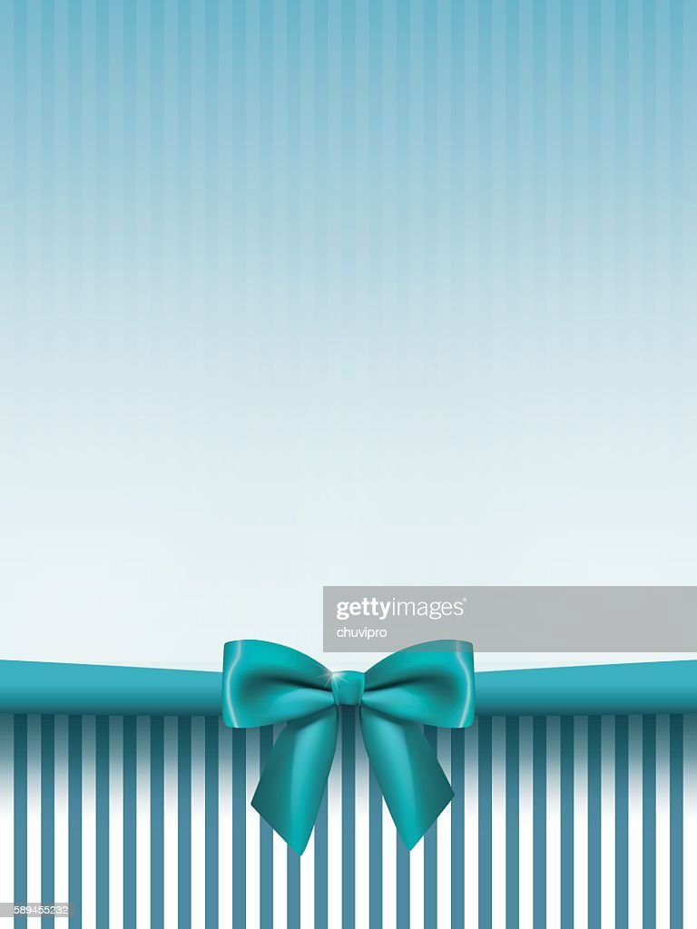 vertical background with a satin bow in mint green colors vector art